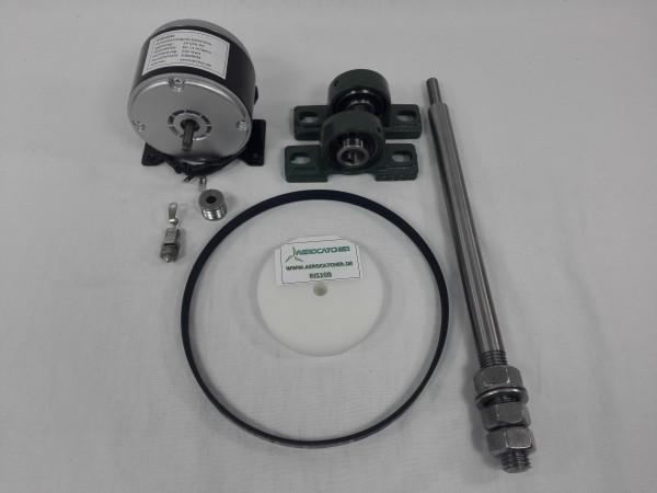 Komplette Übersetzungseinheit mit Generator 250W 12-24VDC
