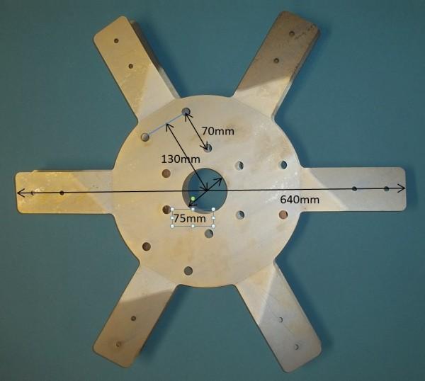 6-Blatt-Repeller Nabenaufsatz